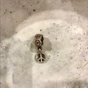 "Pandora Jewelry - Authentic pandora ""dangle peace sign"" charm"